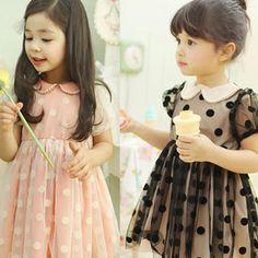 Perle bordée points robe pour les filles robe de soirée pour les petites filles robe de mariée pour les bambins d'été des filles