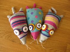 mole sock toy (squeazle. £10.00, via Etsy)