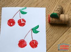 Tampons avec des bouchons de liège Diy For Kids, Crafts For Kids, Arts And Crafts, Toddler Class, Tampons, Craft Activities For Kids, Washi, Place Card Holders, Stamp