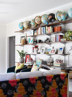 shelves & globes