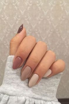 Acrylic Nails Coffin Short, Simple Acrylic Nails, Fall Acrylic Nails, Simple Nails, Classy Nails, Cute Easy Nails, Cute Gel Nails, Fall Gel Nails, Cute Nails For Fall