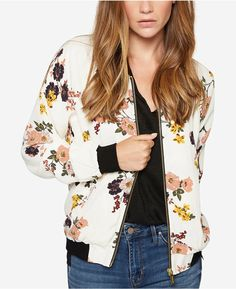This floral bomber jacket is amazing! I love it! I want it! I have to have it for fall! #womensfashion #style #love #ad
