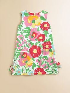 Lilly Pulitzer Kids Toddler's & Little Girl's Little Lilly Shift Dress. I wonder if I can make an adult version of this dress?