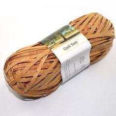 Trend- Stricken: Wolle aus Kork / cork yarn, new way of knitting by JaWolle via DaWanda.com