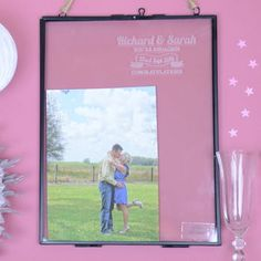 Engagement Engaged Personalised Picture Frame - £22.95 The big question has been popped! Celebrate this exciting time in any special couple's lives with our 'congratulations you're engaged' photo frame. This stylish and simple large frame is perfect for a gift that expresses your best wishes to the happy couple.