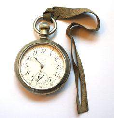 Antique PS Bartlette Railroad Vanguard Silveroid 1892 Open Face Swingout 17 Jewel Pocket Watch sz18