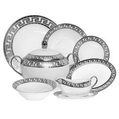 Jogo de Jantar Greece Silver - 41 pçs | Boutique de Luxo @ BoutiqueDeLuxo