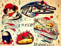 Thinking of getting the Han/Leia tattoo at some point, but with a red heart in the background instead of a red circle