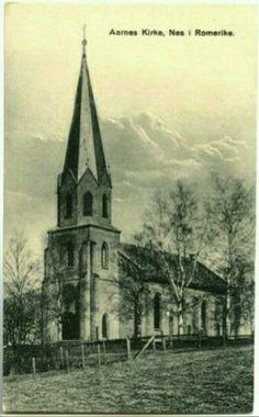 Årnes kirke Nes i Romerike Akershus fylke 1930-tallet