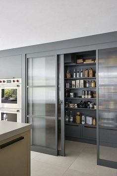 Modern Kitchen Interior Remodeling 45 Unique Kitchen Pantry Ideas with Form and Function Kitchen Pantry Design, Diy Kitchen Storage, Modern Kitchen Design, Home Decor Kitchen, Interior Design Kitchen, Kitchen Ideas, Decorating Kitchen, Rustic Kitchen, Kitchen Pantries