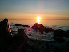 Sunrise at Schleimünde, Baltic Sea