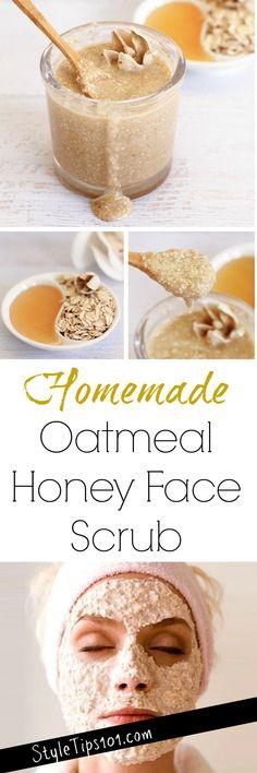 Homemade Honey Oatmeal Face Scrub