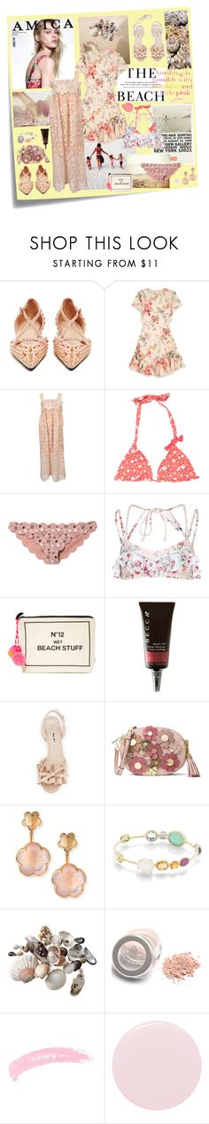 """Soft Summer"" by sue-mes ❤ liked on Polyvore featuring Post-It, Gucci, Amica, H&M, Retrò, Lilly Pulitzer, Zimmermann, Chloé, Marc by Marc Jacobs and Marysia Swim"