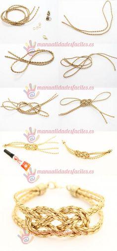 Fashion Anklets Bracelets - Add flare to your style, express your creativity Jewelry Knots, Beaded Jewelry, Handmade Jewelry, Beaded Bracelets, Jewellery, Diy Jewelry Tutorials, Jewelry Crafts, Bracelet Cuir, Diy Bracelet