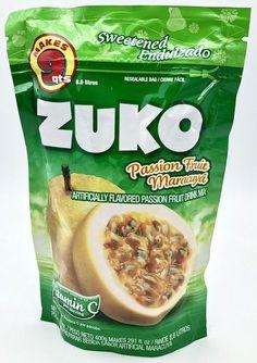 Buy Zuko Maracuya flavor drink mix at MexGrocer.com Peach Drinks, Fruit Drinks, Fruit Juice, Beverages, Raspberry Drink, Lemon Drink, Mexican Food Recipes, Snack Recipes, Snacks