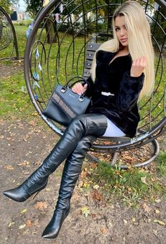 Mens Tall Boots, High Leather Boots, Sexy Boots, Black Boots, Black Leather, Womens Thigh High Boots, Thigh High Boots Heels, Leather Fashion, Fashion Boots
