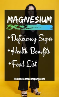 Magnesium is a wonderful mineral that helps us stay young, healthy and strong. A magnesium deficiency in your body can make you age faster! Magnesium Foods, High Potassium Foods, Magnesium Benefits, Magnesium Deficiency, Health Benefits, Women's Health, Health And Wellness, Mental Health, Brain Nutrition