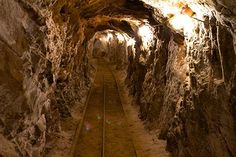 Explore 100 feet down into a real gold mine!