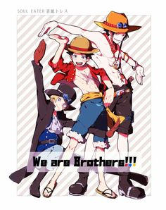 One Piece Pictures, One Piece Images, Anime Guys, Manga Anime, Anime Siblings, One Piece Crew, Ace Sabo Luffy, One Piece Funny, The Pirate King