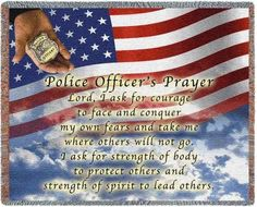 Personalized Police Officers Prayer Tapestry Throw