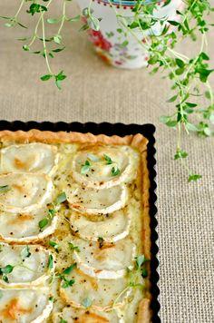 Tarta de cebolla caramelizada y queso de cabra {Octubre me sienta bien} | Delicious Stories