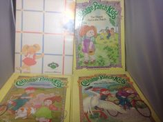 Cabbage Patch Kids 4 Hardcover Books DJ Vintage 1980's Shy Bike Friends Family