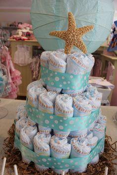 Cute diaper cake #babyshower