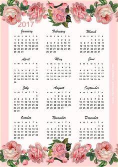 Rosicler Araujo: Calendários 2017 para imprimir