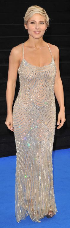 Elsa Pataky in a sparkly gown