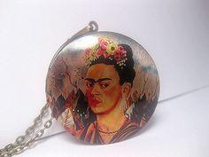 Hey, I found this really awesome Etsy listing at https://www.etsy.com/listing/463841835/frida-kahlo-locket-necklace-frida-kahlo