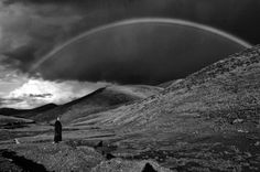 Rainbow in Tibet, by Matthieu Ricard