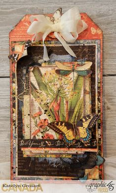 Bee Yourself Mixed Media Tag  Nature Sketchbook  By Katelyn Grosart  Product by Graphic 45  Photo 1
