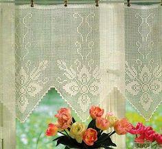 bordo a fiori tenda a filet