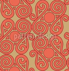 Cucuteni Spirals by Irina Arnautu available for download as a vector file on patterndesigns.com Vector Pattern, Pattern Design, Orange Design, Connect The Dots, Art Deco Era, Repeating Patterns, Warm Colors, Vector File, Spirals