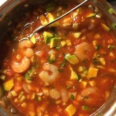 """mexican shrimp recipes """"I prepare this refreshing shrimp cocktail for my family a lot during the hot summer days. Being a Mexican family, we always add Mexican hot sauce (such as Mexican Shrimp Cocktail, Mexican Shrimp Recipes, Lime Shrimp Recipes, Mexican Seafood, Mexican Dishes, Seafood Recipes, Cooking Recipes, Shrimp Cocktail Recipe Clamato, Shrimp Coctail"""