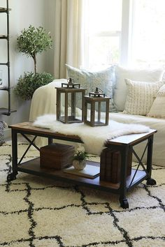 Want to learn how to create budget farmhouse room transformations in your home? We share our best advice and our fool proof shopping tips. Chandeliers, Country Coffee Table, Coffee Tables, Shabby, Country Farmhouse Decor, Farmhouse Style, Farmhouse Ideas, Modern Farmhouse, Diy Home Decor Bedroom
