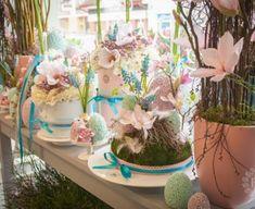Glass Vase, Pastel, Table Decorations, Spring, Furniture, Home Decor, Cake, Decoration Home, Room Decor