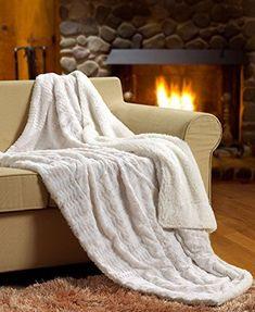 """Tache White Ivory Super Soft Warm Polar Faux Fur with Sherpa Throw Blanket 63 x 87 Polyester & Polyester Blend Imported Great for the Cold, Warm and Soft Available in 5 different colors! Search for """"Tache Polar"""" for our other colors 1 Throw 63 x 87 White Throw Blanket, Faux Fur Blanket, Faux Fur Throw, Chunky Blanket, Cable Knit Throw, Cooling Blanket, White Throws, Soft Blankets, Baby Blankets"""
