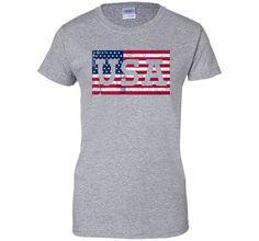 Cool USA Flag Shirt Memorial Day 4th of July Kids Women Men