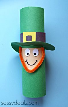 Cute Leprechaun Toilet Paper Roll Craft For St. Patrick's Day