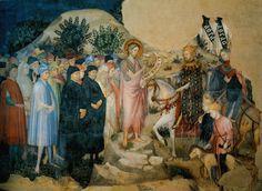 Салимбени. Иоанн проповедует перед Иродом.  Фрески в Оратории Иоанна Крестителя в Урбино.