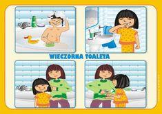 czynności poranne myjemy buzieobrazki dla dzieci   Dbamy o zdrowie - higiena