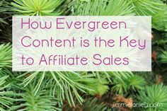 How Evergreen Content is the Key to Affiliate Sales