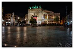 Politeama Theatre by Night - Palermo (Italy) by RayDS, via Flickr