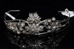 Diamond and silver tiara