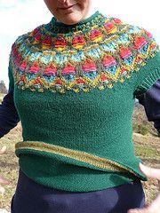 Ravelry: The Wild Apple Yoke Pullover pattern by Kerstin Olsson