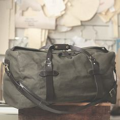 it's time // #getoutdoors with the Filson carry-all duffel