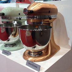 Perfect Satin Copper Stand Mixer. Swoon. #ihhs2015 #kitchenaid
