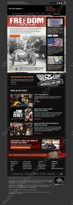Brand - Harley-Davidson:  Subject:  Freedom is what got us here. Show your appreciation.