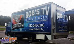 Bob's TV Box Truck | 3M Certified Vehicle Wraps | Ocala Florida